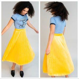 🆕NWT rare Just Female pleated velvet midi skirt